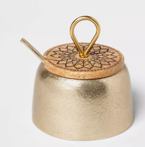Cravings by Chrissy Teigen 7oz Salt Cellar with Wood Lid