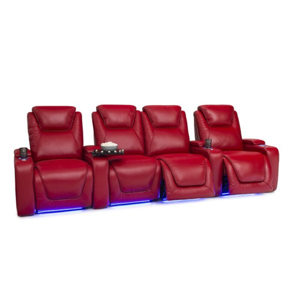Leather Home Theater Row Seating