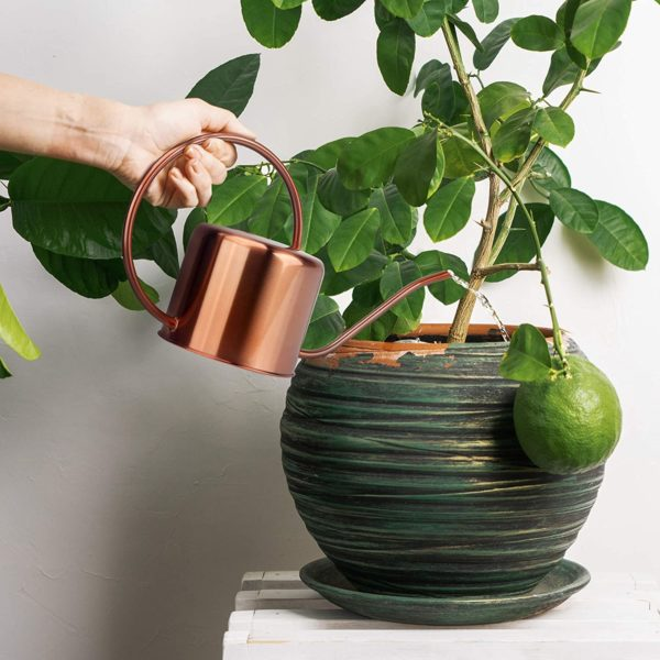 KIBAGA Decorative Copper Colored 40oz Watering Can