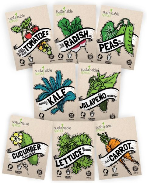 "Vegetable Seeds Heirloom""SillySeed"" Collection"