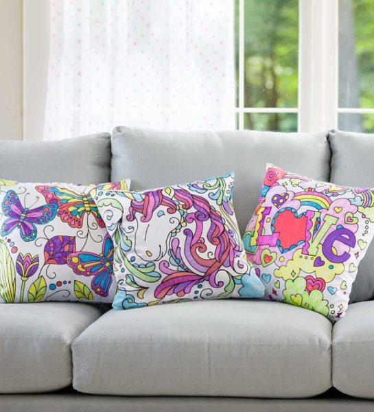 Color Pops Color-Your-Own Pillow Kit