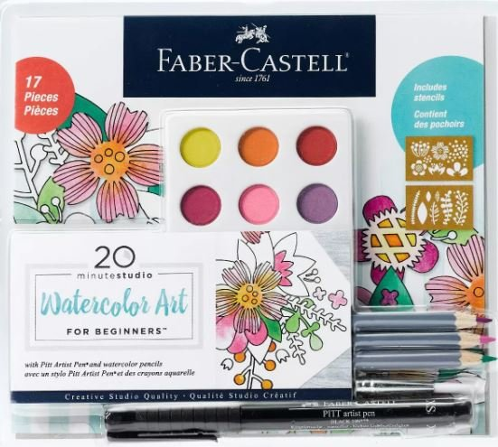 17pc 20 Minute Studio Watercolor Art for Beginners - Faber-Castell