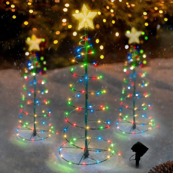 Lighted Christmas Trees