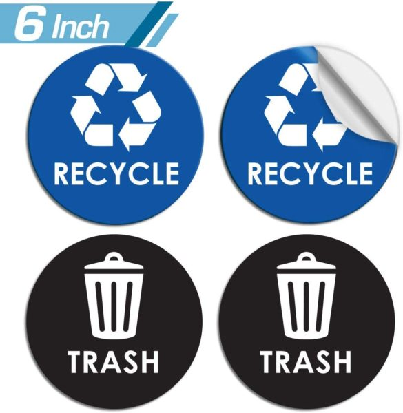 Recycle Sticker Trash Can Decal