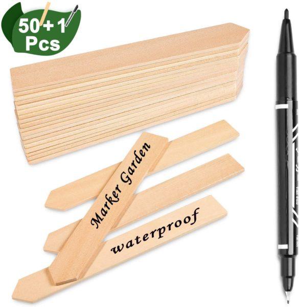 50Pcs Wooden Plant Labels
