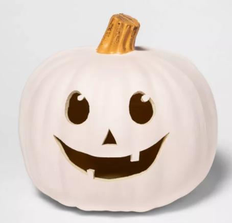 "9"" Cream Carvable Plastic Halloween Pumpkin - Hyde & EEK! Boutique™"