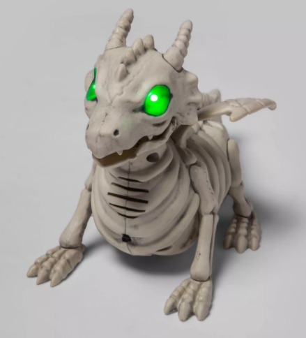 Small Animated (Lights/Sound) Dragon Skeleton Halloween Decorative Prop - Hyde & EEK! Boutique™