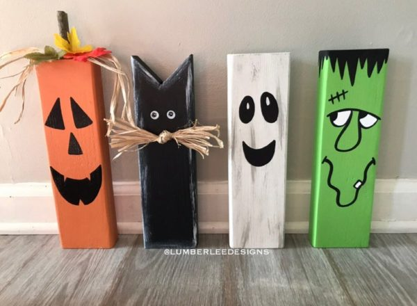 Wooden Halloween Decor