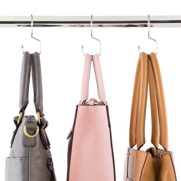 Chrome Metal Purse Hangers Pkg/6
