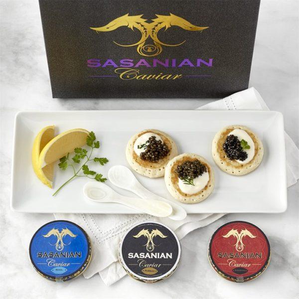Sasanian Caviar Trio Gift Set