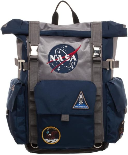 NASA Roll-Top Backpack - Blue and Grey Backpack