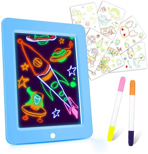 Crazy Disco Glow Board-Magic Drawing Board