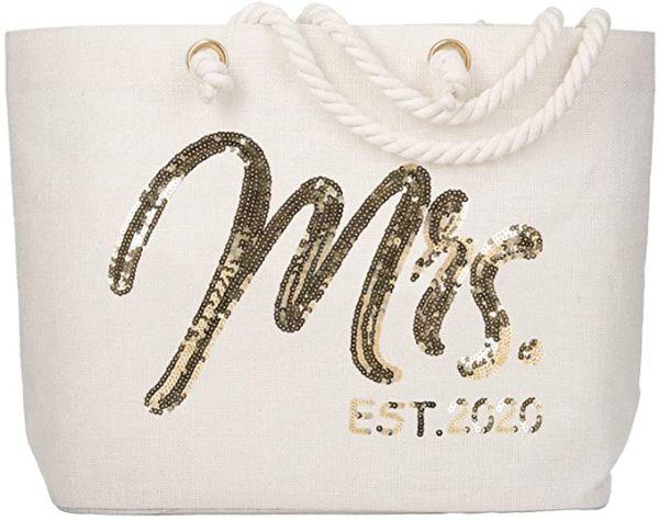Future Mrs. EST. 2020 Large Bride Tote Bag