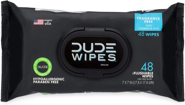 DUDE Wipes Flushable
