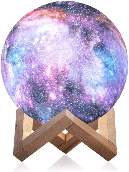 3D Galaxy Moon Lamp by Mind-glowing