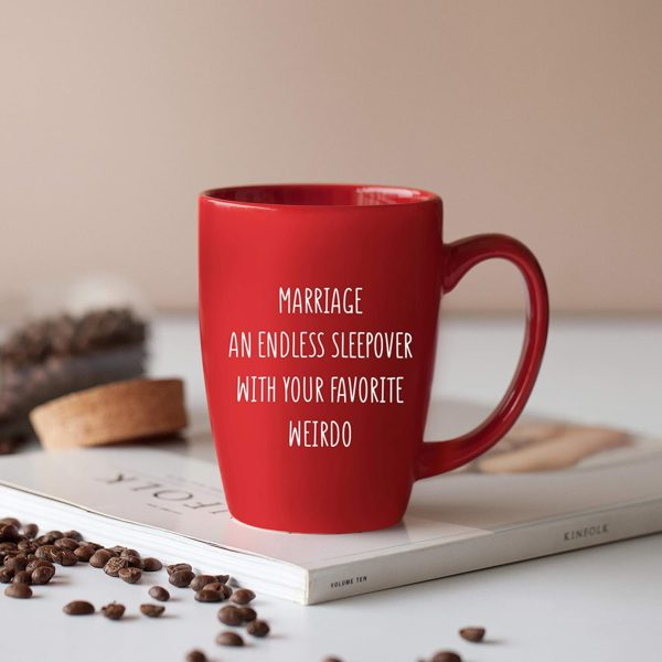 Marriage an Endless Sleepover - 14 oz Red Bistro Coffee Mug