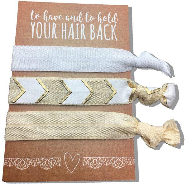 Gold Ribbon Hair Ties