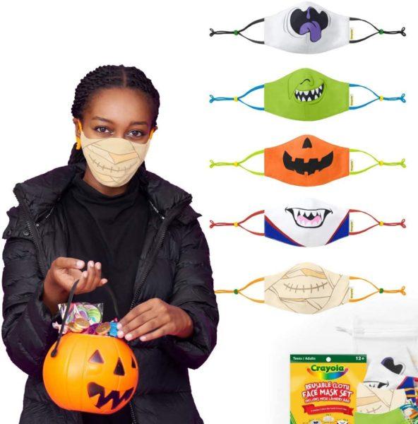 Crayola Reusable Cloth Teen/Adult Face Mask Set, Halloween