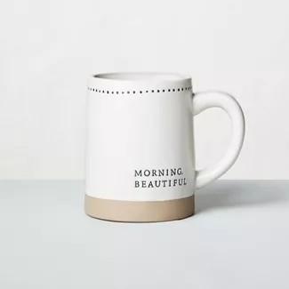'Morning Beautiful' Stoneware Mug - Hearth & Hand