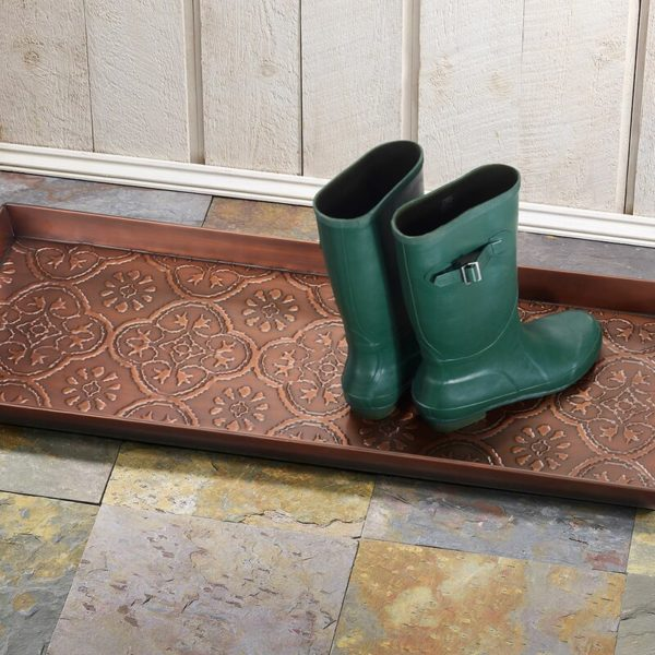 Medallion 30 in 13 in Indoor Boot Tray