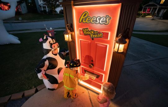 Reese's Introduces Robotic, Candy-Dispensing Door for a Safe Way to Trick or Treat