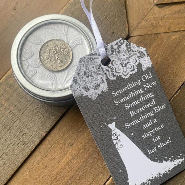 Lucky Sixpence Coin Wedding Gift