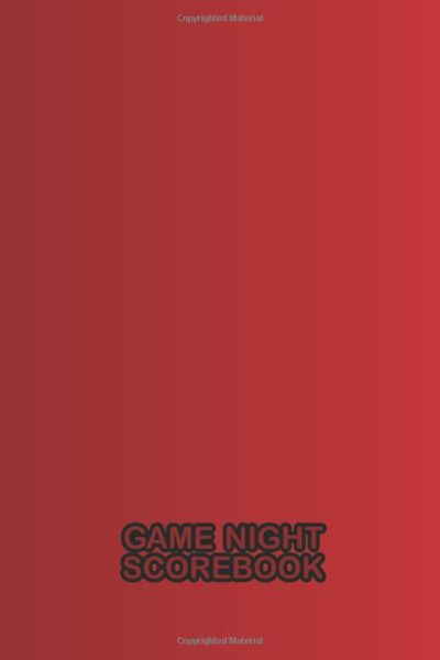 Game Night Scorebook