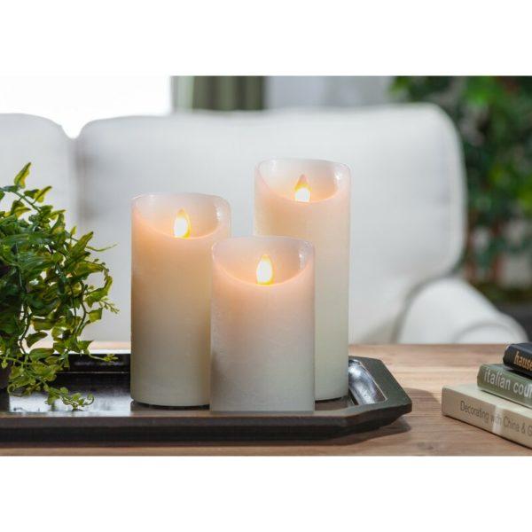 3 Piece Aurora Unscented Flameless Candle Set