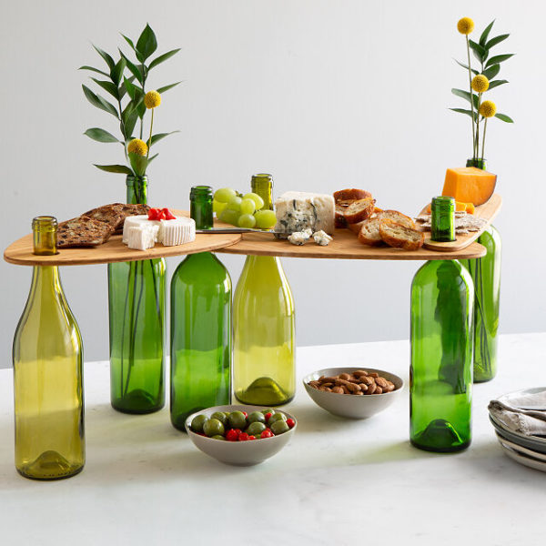 Wine Bottle Topper Serving Set