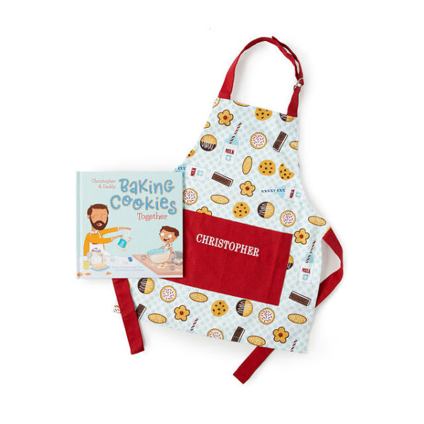 Personalized Cookie Baking Book & Apron