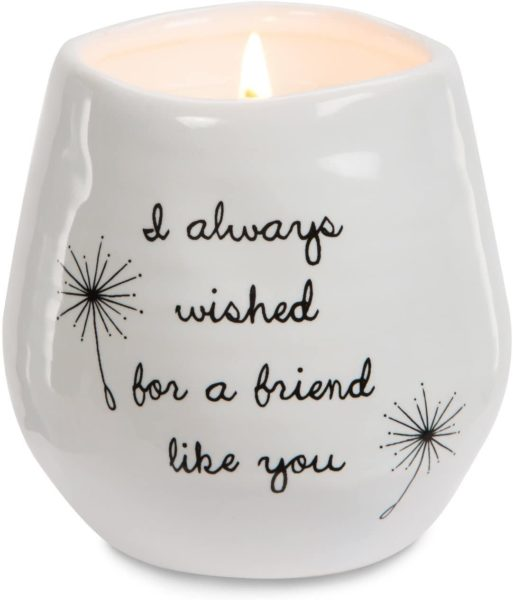 Always Wished for a Friend Like You White Ceramic Soy Serenity Scented Candle
