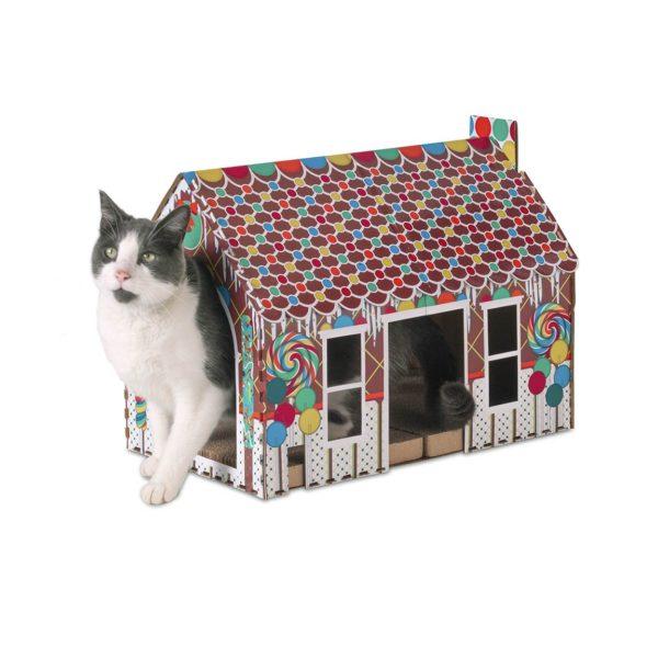 Pet Champion Bright Gingerbread Cat Playhouse