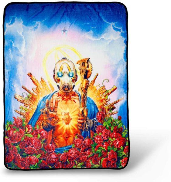 Borderlands 3 Psycho Bandit Cover Art Fleece Throw
