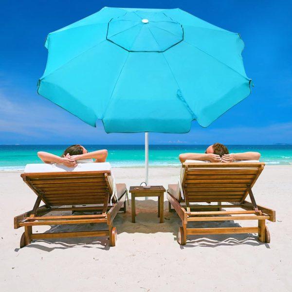 Abba Patio 7ft Beach Umbrella with Sand Anchor