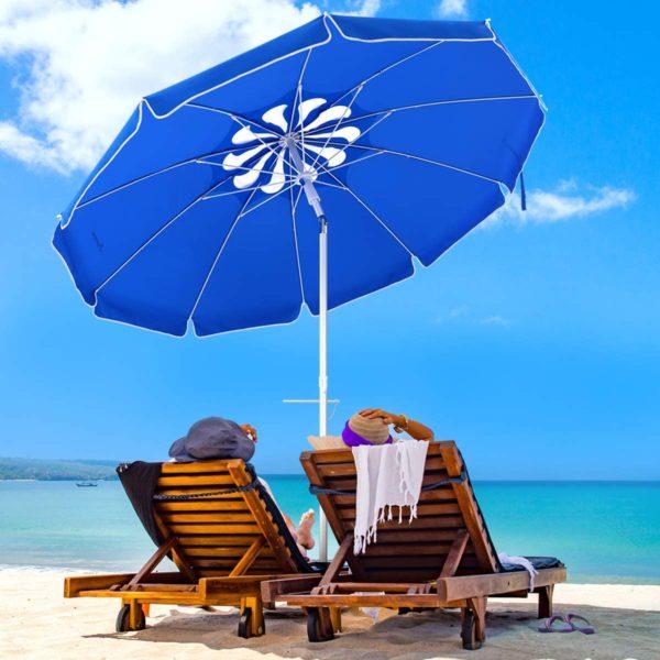 Portable Beach Umbrella with Carry Bag