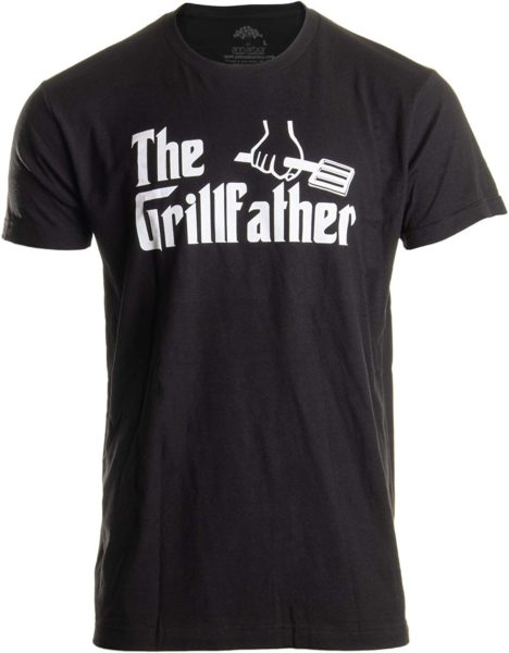 The Grillfather | Funny Dad Grandpa Grilling BBQ Meat Humor T-Shirt