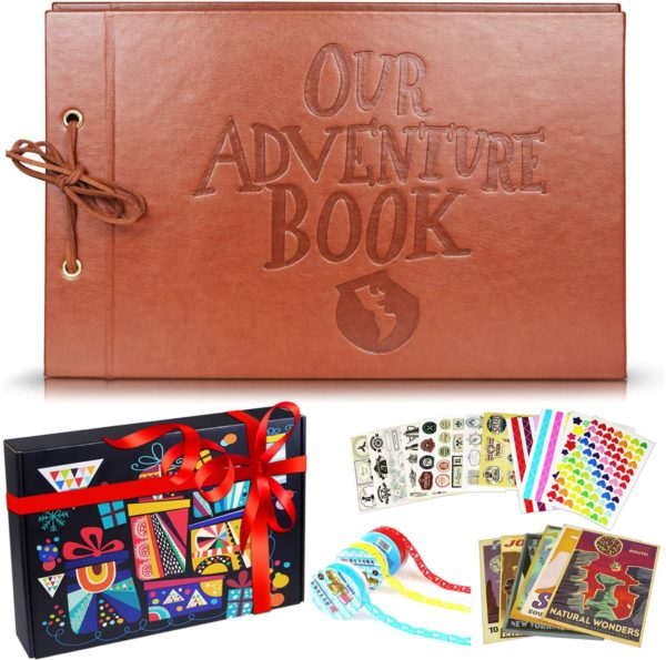 Leather Embossed Letter Cover Our Adventure Book