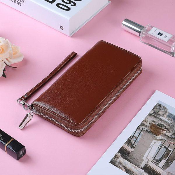 Lavemi Women's RFID Blocking Leather Zip Around Wallet