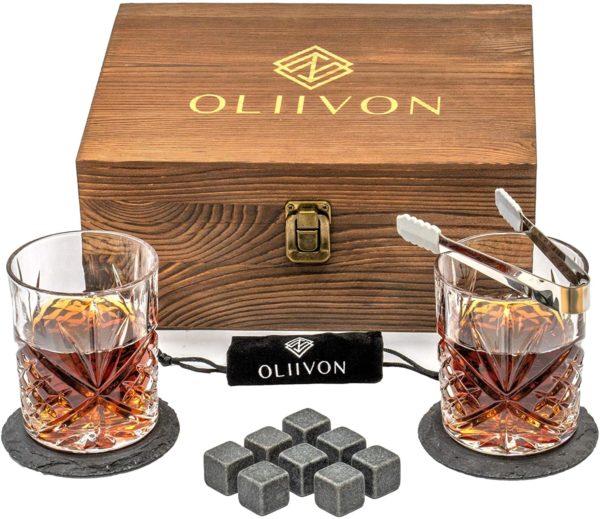 Whiskey Stones Glass Gift Set