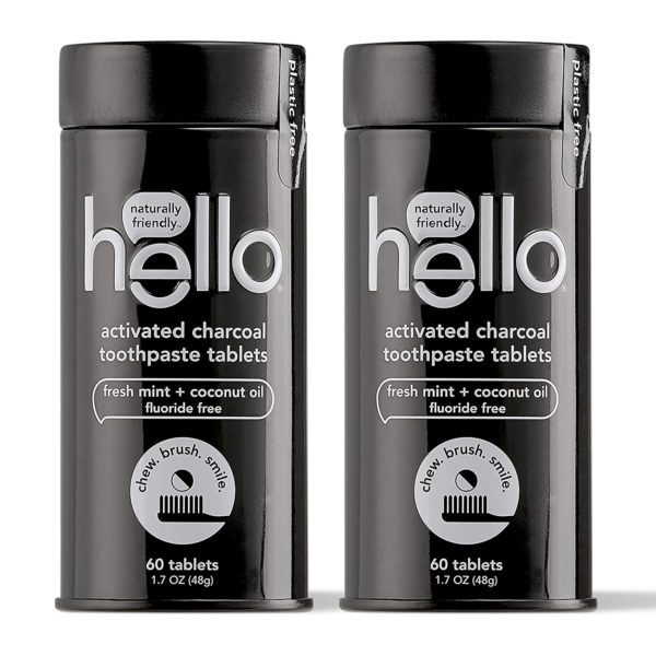 Hello Activated Charcoal Whitening Toothpaste Tablets