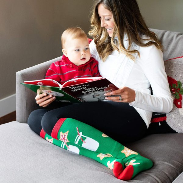 2 Pack Knee High Christmas Socks