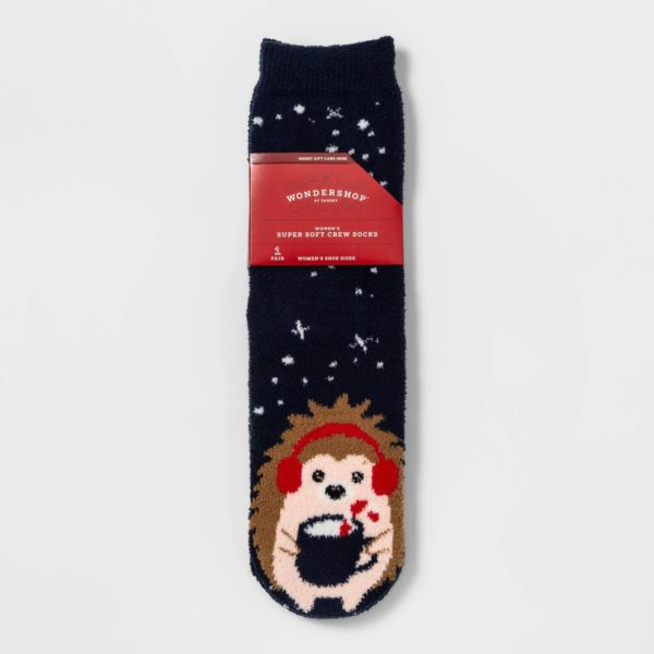 Hedgehog Cozy Crew Socks