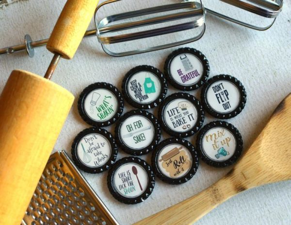 Kitchen Puns Bottlecap Magnets