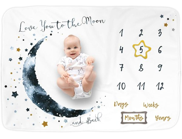 Luka&Lily Baby Monthly Milestone Blanket