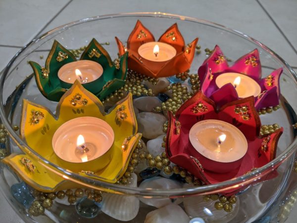 Floating Flower Tealight Holders