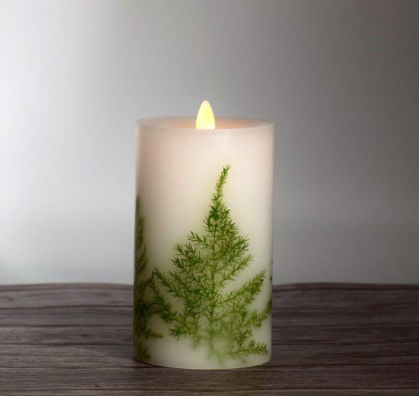 Asparagus Fern Flameless Candle