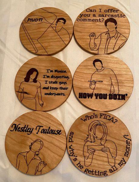 Friends coasters - set of 6