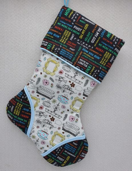 Friends the TV series Inspired Holiday Stocking