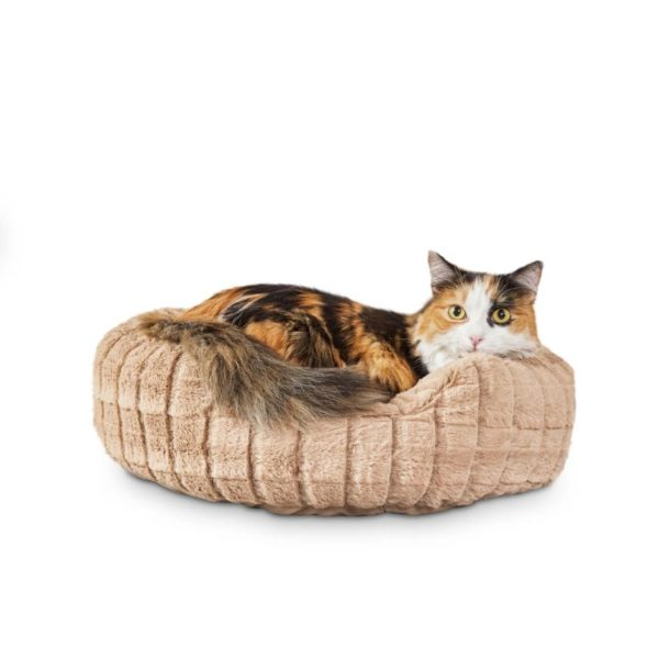 Harmony Faux-Fur Cat Bed