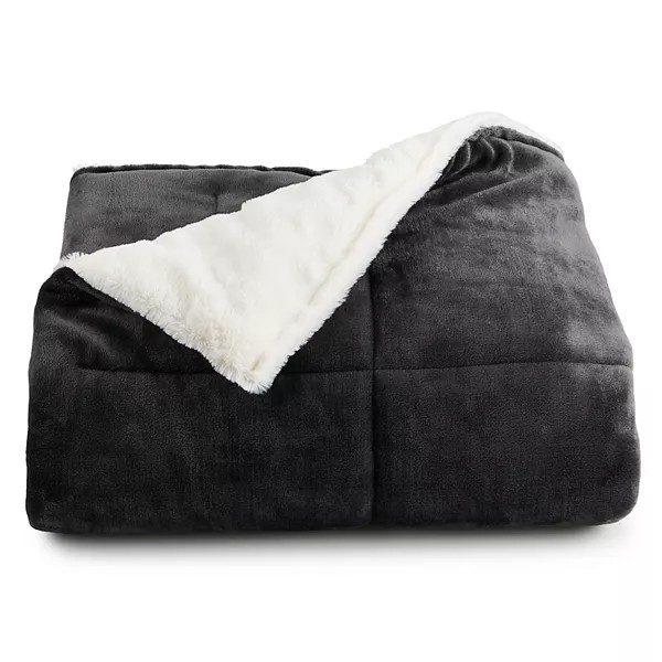 Cuddl Duds® Cozy Soft Plush to Faux Fur Throw